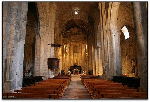 Inside Santa Maria de Gerri de la Sal